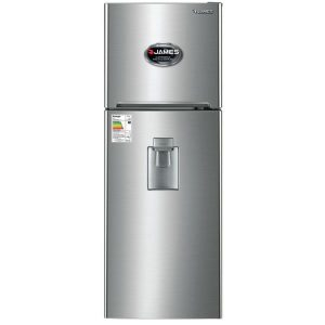 Refrigerador con Freezer y dispensador Frio Seco JAMES Modelo JN300D Color: Inox
